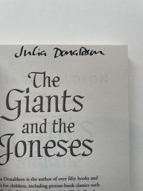 julia donaldson the giant and the joneses signed first ed2