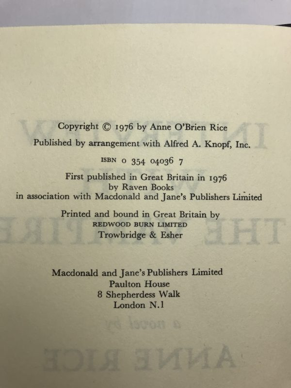 anne rice interview with a vampire first edition2