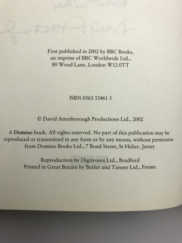david attenborough life on air signed first edition3