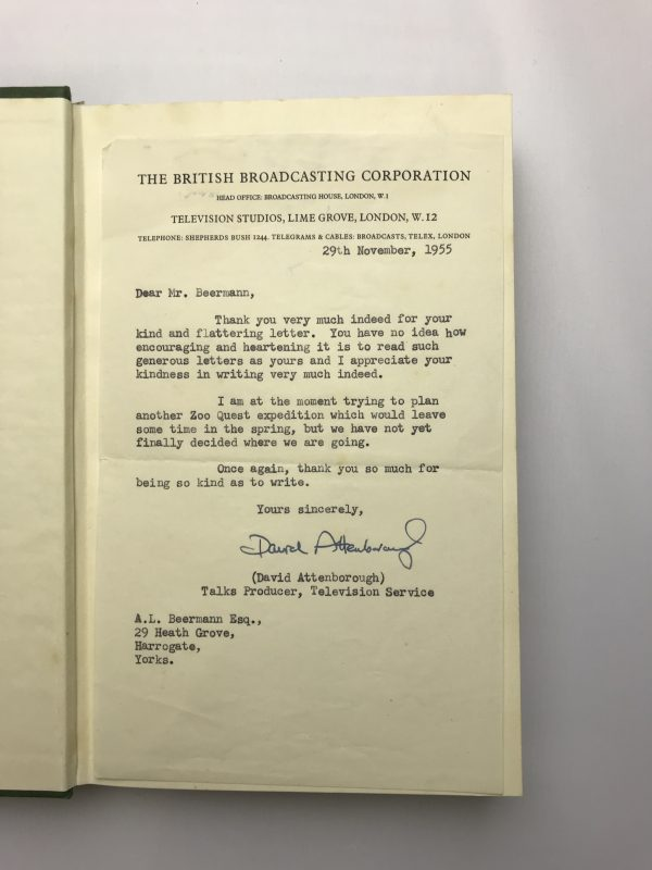 david attenborough zoo quest in paraguay with letterhead2