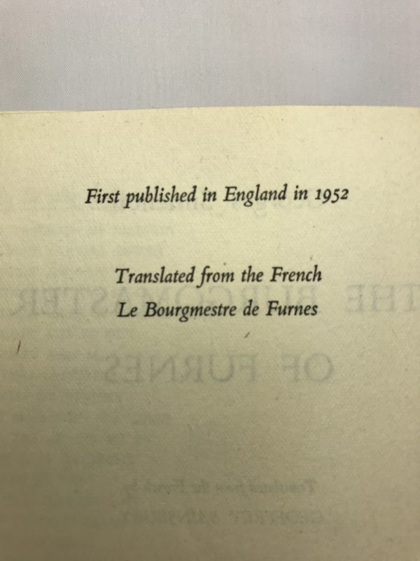 georges simenon the burgomaster of furnace first edition2