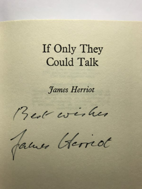 james herriot if only they could talk signed first edition2