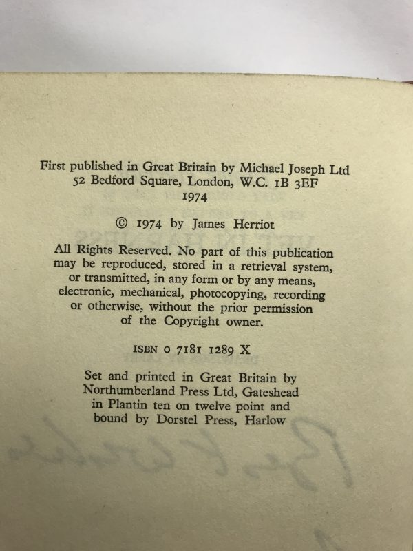 james herriot vets in harness signed first edition3
