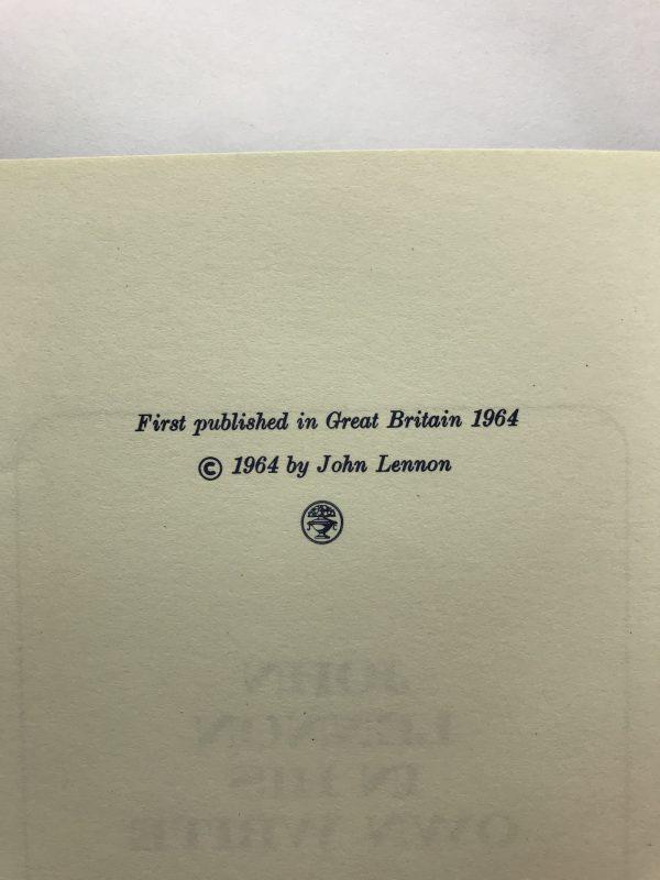 john lennon in his own write first ed 275 2