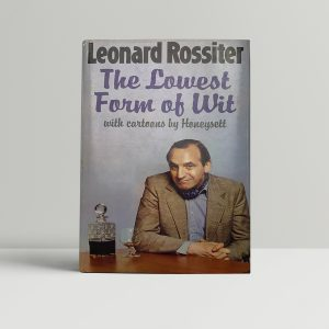 leonard rossiter the lowest form of wit signed first edition1