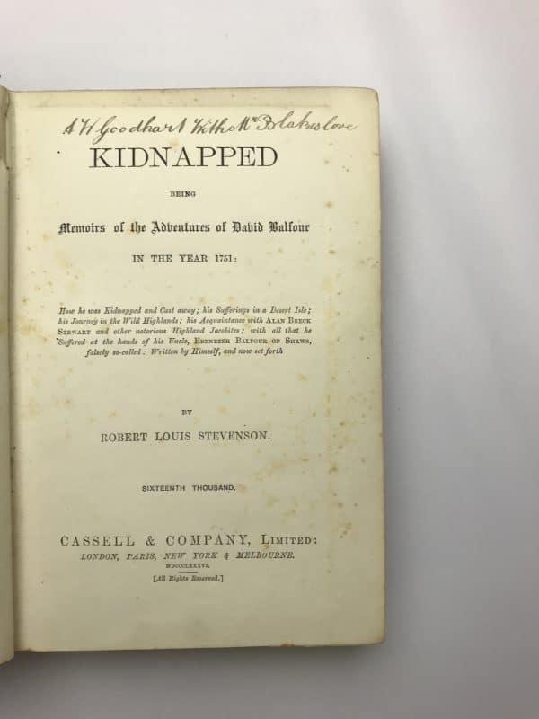 robert louis stevenson kidnapped first edition2