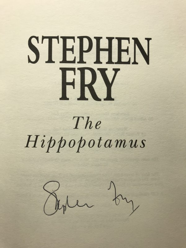 stephen fry the hippopotamus signed first edition2