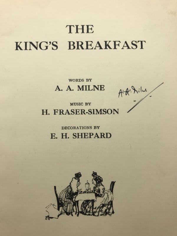 aa milne the kings breakfast signed first edition2
