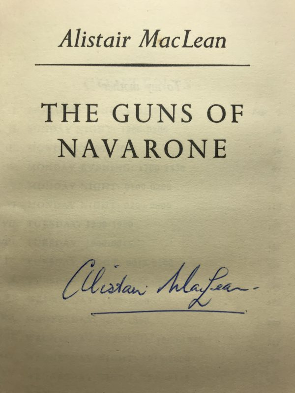 alistair maclean the guns of navarone signed first edition2