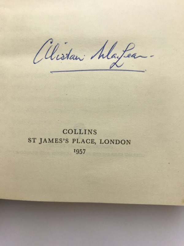 alistair maclean the guns of navarone signed first edition3