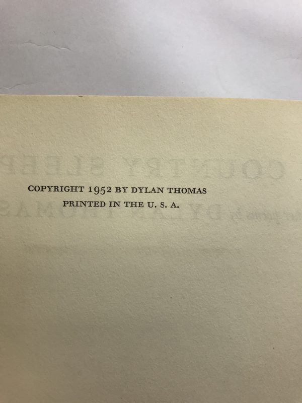 dylan thomas in country sleep first ed2