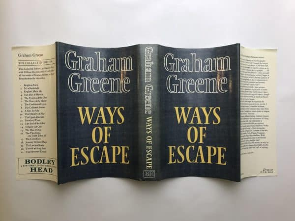 graham greene ways of escape first edition4