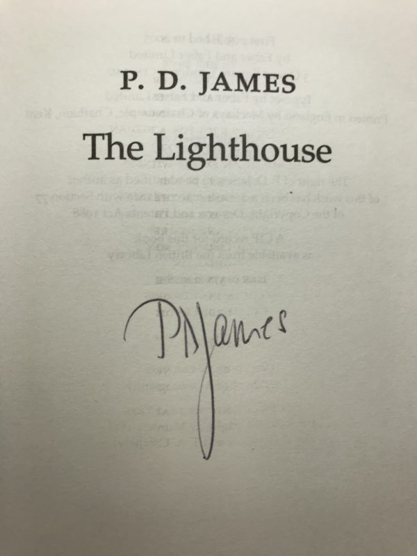 pd james the lighthouse signed first edition2