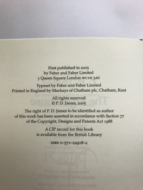 pd james the lighthouse signed first edition3