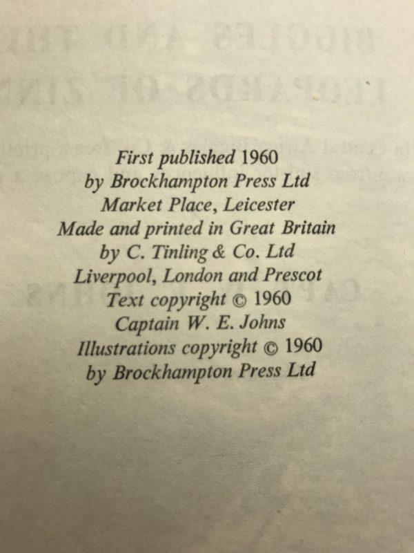 we johns biggles and the leopards of zinn first edition2