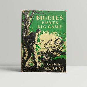 we johns biggles hunts big game first edition1