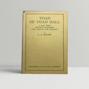 aa milne toad of toad hell fisrt edition1