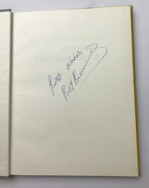 billy bremners book of football2 signed2