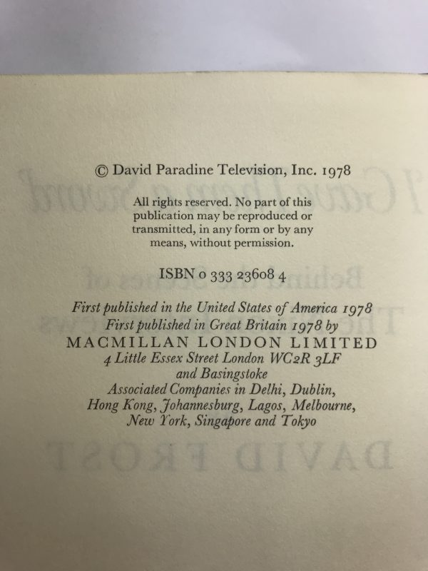 david frost frost on nixon signed first edition3