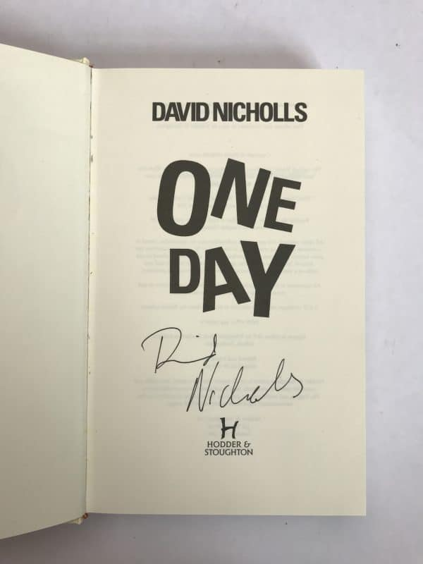david nicholls one day signed first edition2