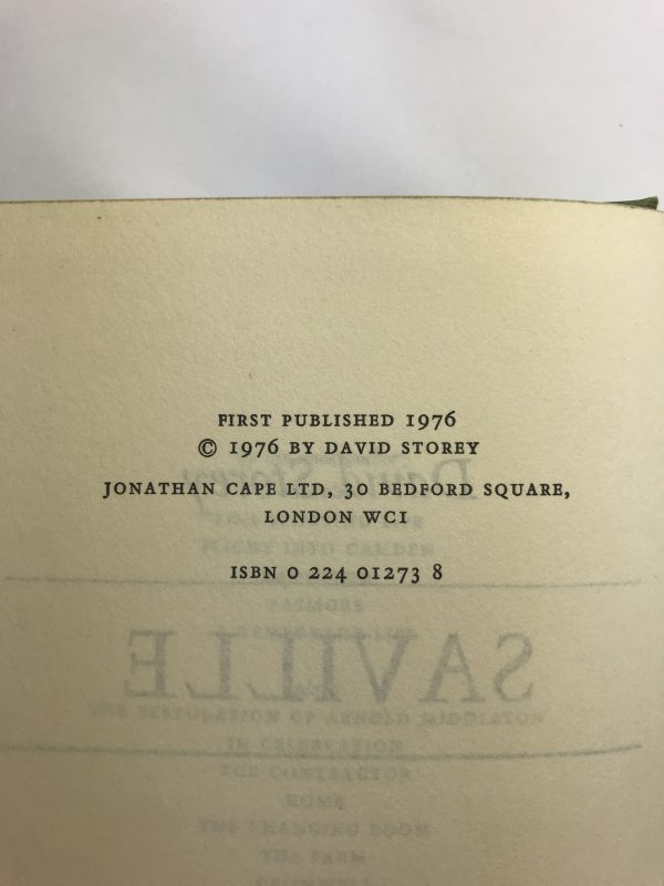 david storey saville first edition2