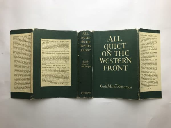 erich maria remarque all quiet on the western front first edition4