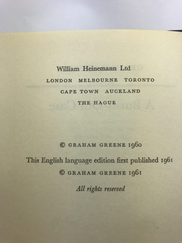 graham greene a burnt out case first edition2