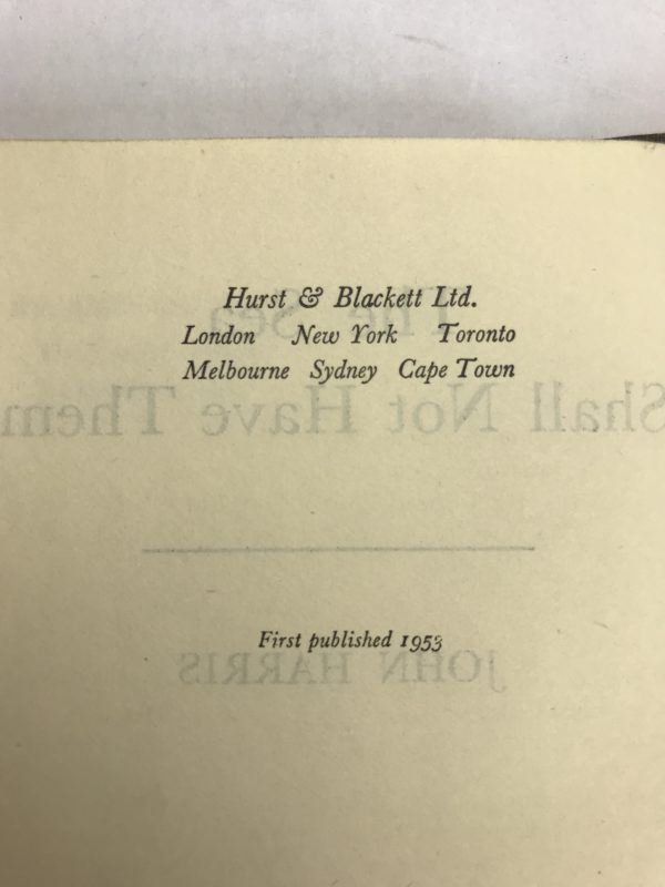 john harris the sea shall not have them first edition2