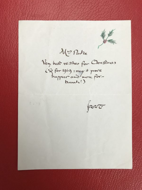 jrr tolkien the father christmas letters first edition signed letter4