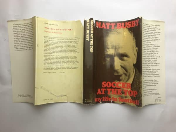 matt busby soccer at the top signed first edition5