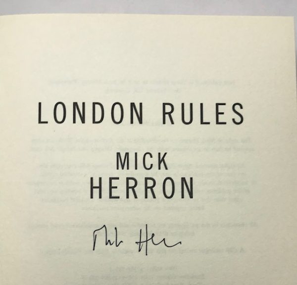mick herron london rules signed first edition2