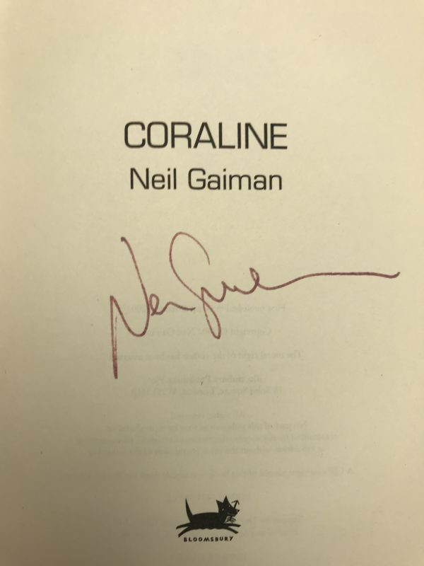 neil gaiman coraline signed first edition2