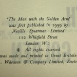 nelson algren the man with the golden arm first edition2