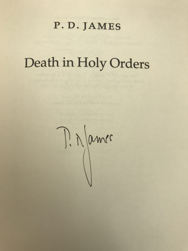 pd james death in holy orders signed first ed2
