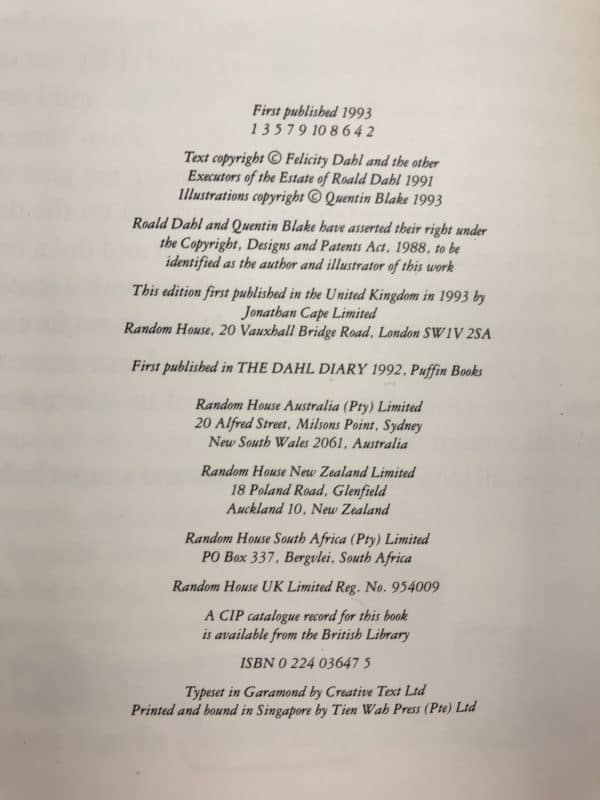 roald dahl my year 1st ed2 1