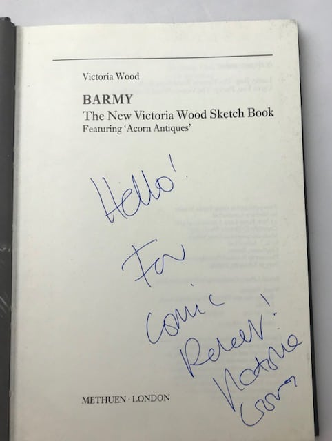 victoria wood barmy signed first edition2