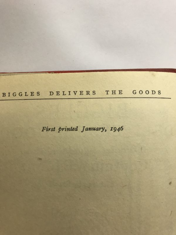 we johns biggles delivers the goods first edition2