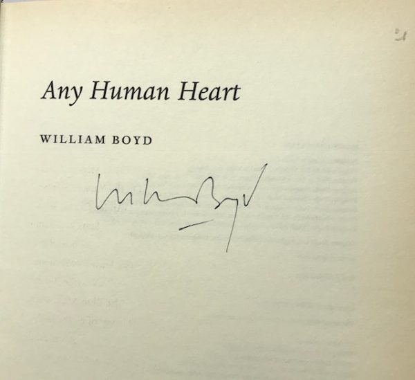 william boy any human heart signed first edition2