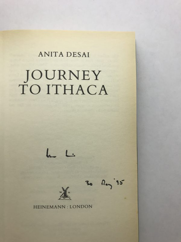 anita desai journey to ithaca signed first edition2