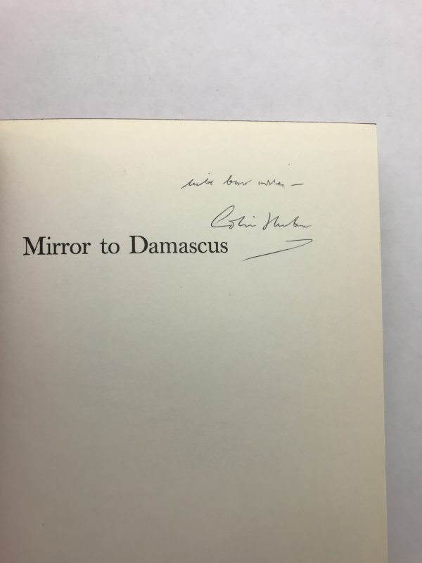 colin thubron mirror to damascus signed first edition2