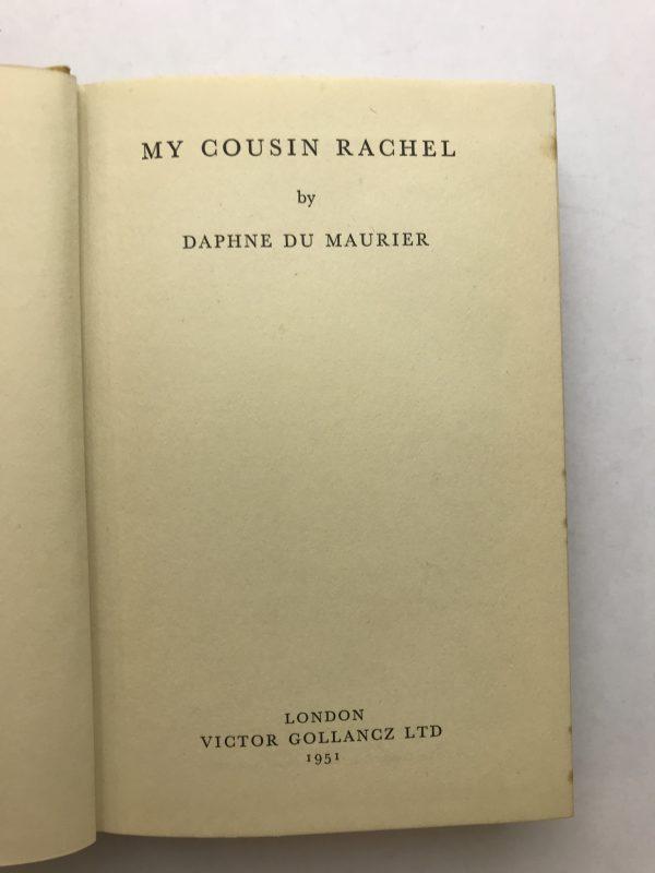 daphne du maurier my cousin rachel first3