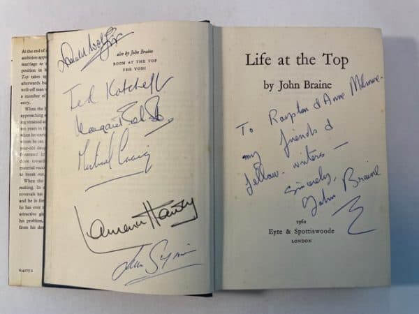 john braine life at the top signed2