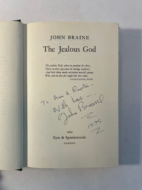 john braine the jealous god signed2