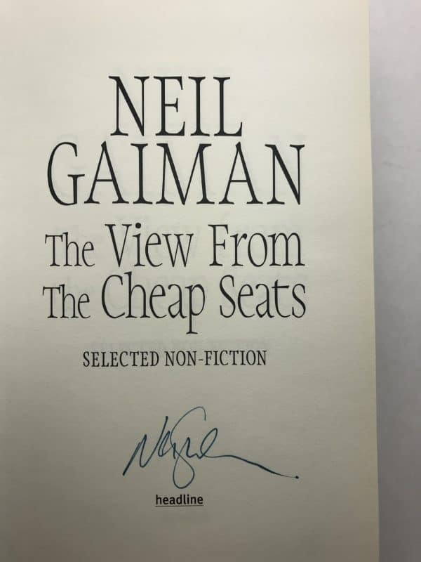 neil gaiman the view from the cheap seats signed first edition2