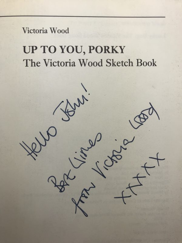 victoria wood up to you porky signed first edition2
