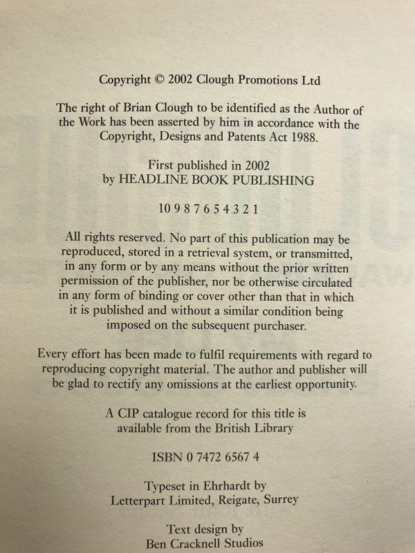 brian clough cloughie signed first ed3