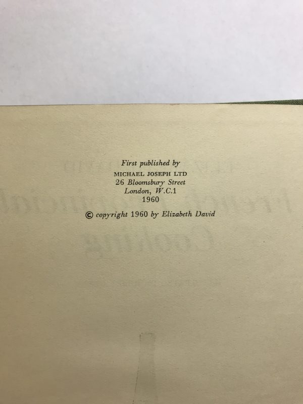 elizabeth david french provincial cooking first ed2