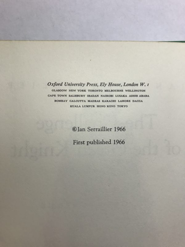 ian serraillier the challenge of the green knight signed first ed3