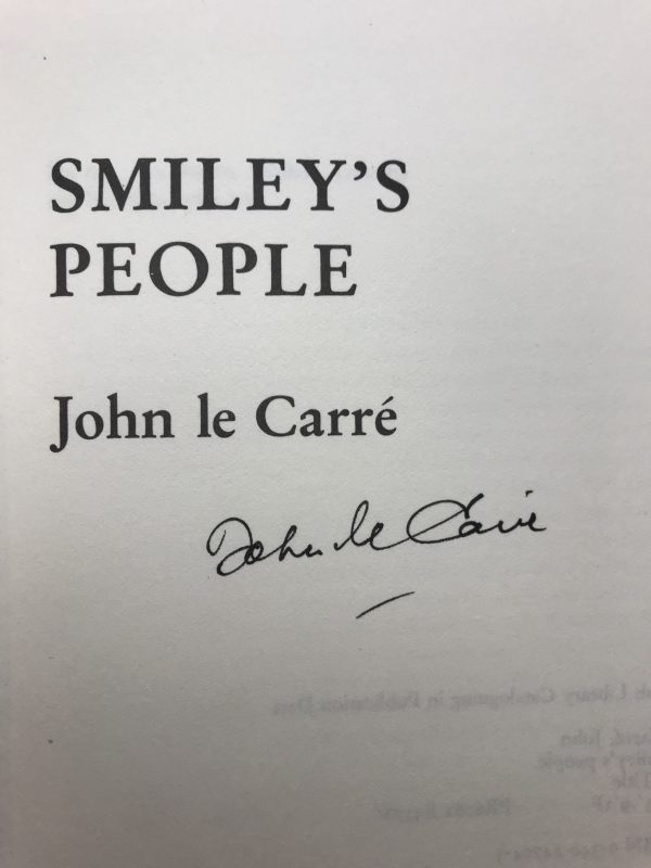 john le carre smileys people signed first2