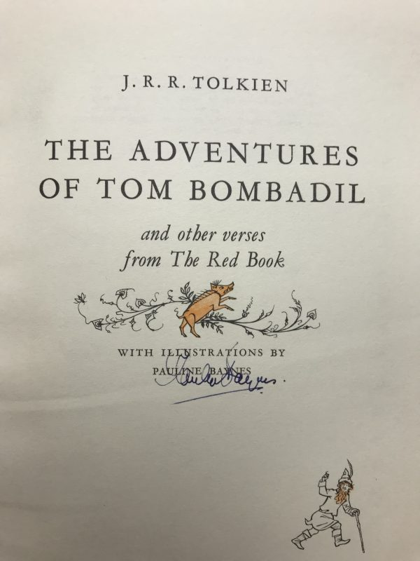 jrr tolkein the adventures of tom bombadil signed first2